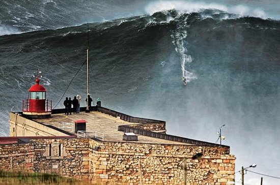 Nazare Big Waves from Lisbon Private