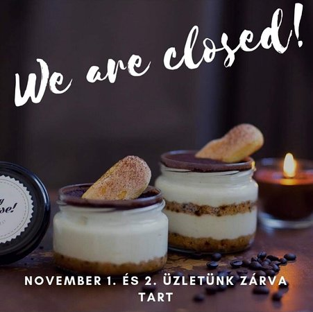 Our cheesecake show room is closed on the 1st and 2nd of november.