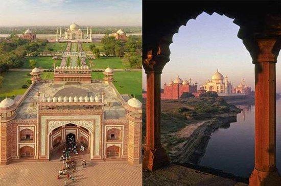 Excursão privada ao Taj Mahal com carro...