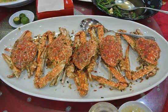 Fried flower crab