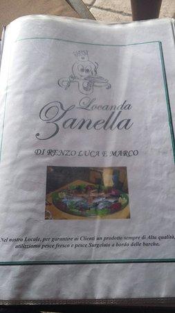 Locanda Zanella : Menù