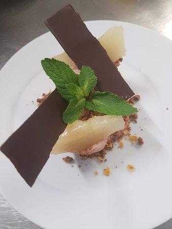 Barquette chocolat noir/poires