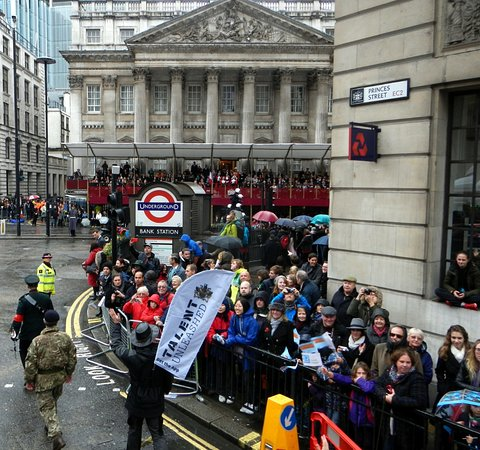 Big crowds at the Lord Mayor's Show in the City of London