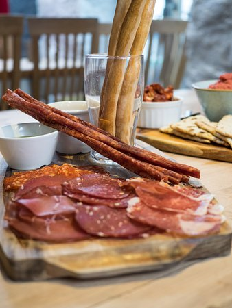 SMALL PLATES Small, but perfectly formed! Ideal for sharing or going solo! British Cured Meat Platter & Beer Sticks - Selection of cured British Charcuterie, selection of breads, olives & dressings