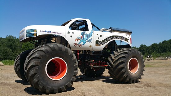 "This is the MONSTER TRUCK ""Blue Buzzard"" you can learn to drive on our privatr Road Course near Waterbury, CT USA."