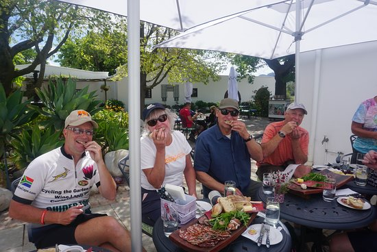 Great end to a ride at Moreson Winery