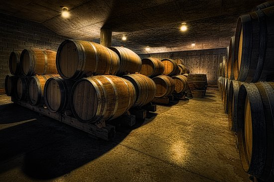 Bloomfield, Canada: View the barrel cellar during a tour