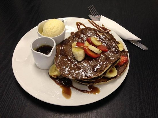 Stockport, UK: Kidzilla's Chocolate pancake.