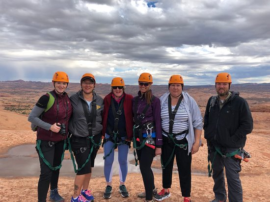 Our group during our zip line adventure.