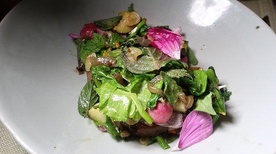 Elements : Summer Vegetable Salad (radish, zucchini, mushroom, herbs)
