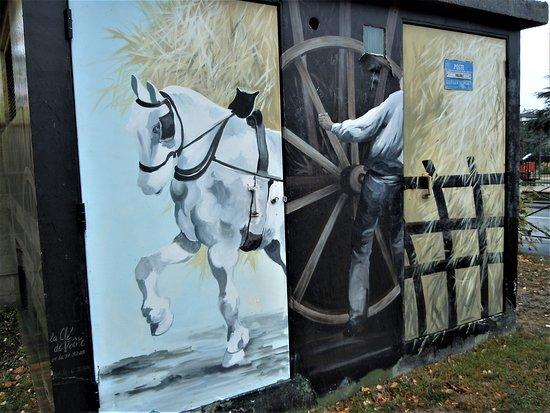 Vaujours, Frankrijk: Détail de la fresque