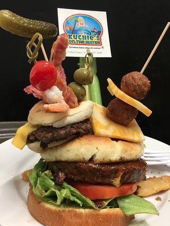 Creve Coeur, إلينوي: Shipwreck Bloody Mary Burger