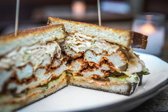 Fried Chicken Sandwich: Valentina Cole Slaw, McClure's Pickles, Country Loaf