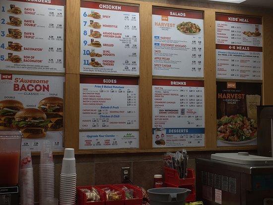 Vandalia, OH: Menu at Wendy's