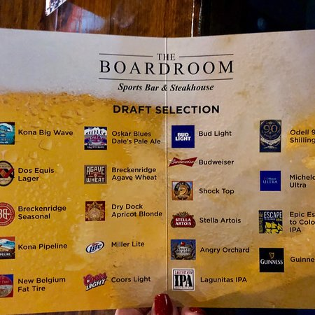 Great service, great beer choices