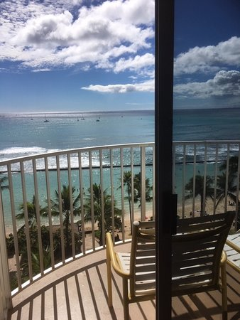 Room with a view in the quieter end of Waikiki