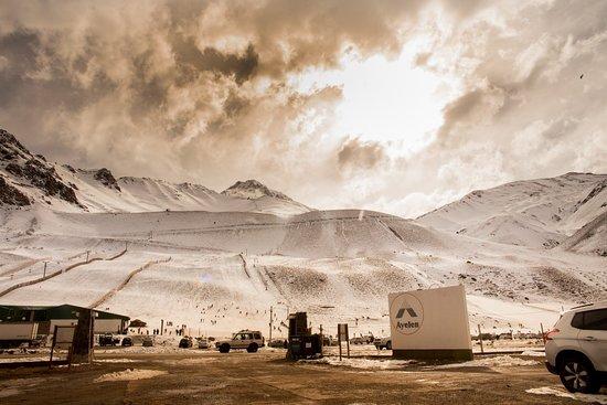 Los Penitentes, ארגנטינה: Vista desde el Hotel al Centro de Ski Los Penitentes