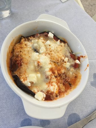 Ouzeri Mitsi: aubergine aux 3 fromages