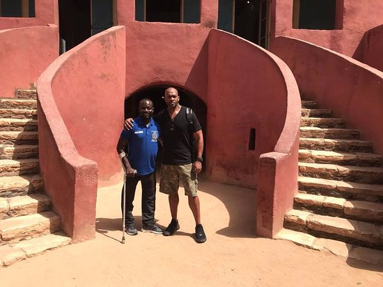The slaves house, with the door of no return In goree island