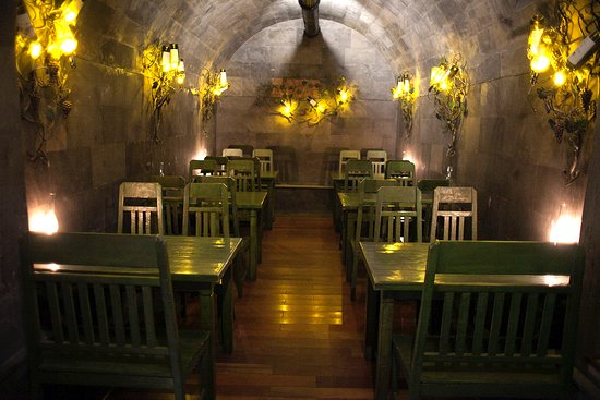 Wine cellar in Tamzara restaurant