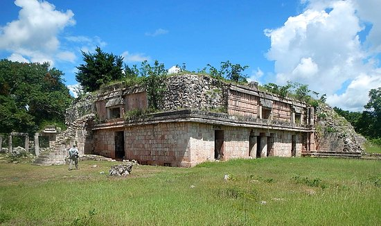 Tekax, México: The Palace on the upper level of the Chacmultun Group