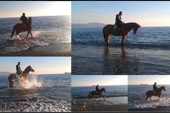 Hípica en la playa de Kalamata