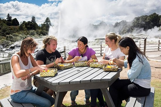 テ・プイアのマオリ文化ツアーとスチームボックスランチ
