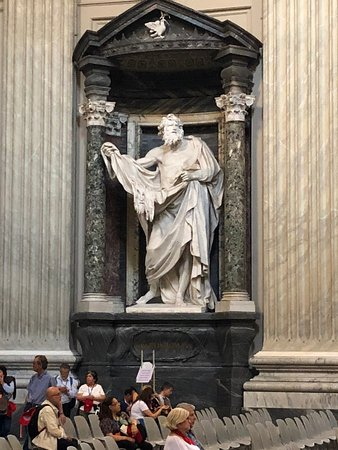The Statue of Saint Bartholomew, with his skin (he was skinned alive)