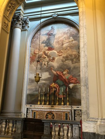 St John, seeking divine inspiration for his scriptures