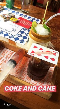 Koramangala Social: rum and coke