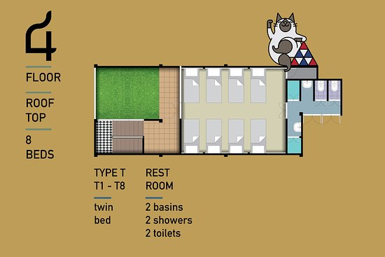 Mix Dormitory Floor Plan Picture Of Siam Colors Hostel Bangkok Tripadvisor