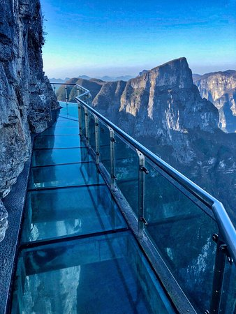 One of the famous glass paths