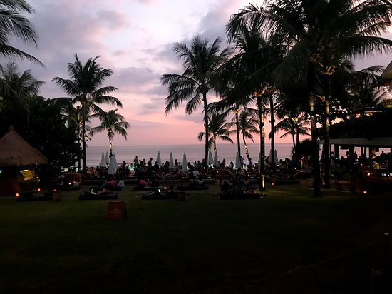 View of the main open area while leaving after watching the sunset