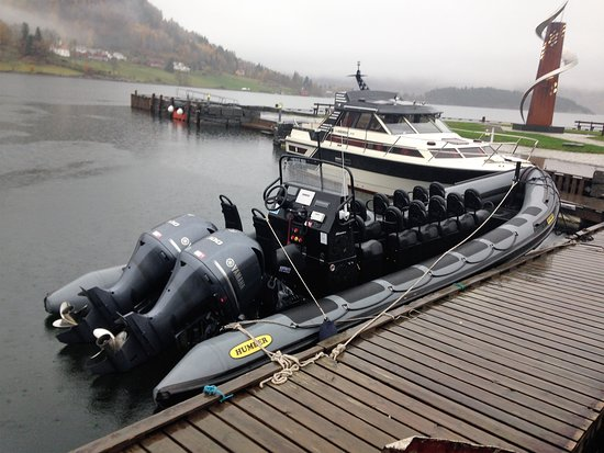 Rib boat used for tour