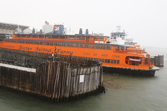 One of the ferries on Staten Island. We got on this one right after we departed the first ferry.