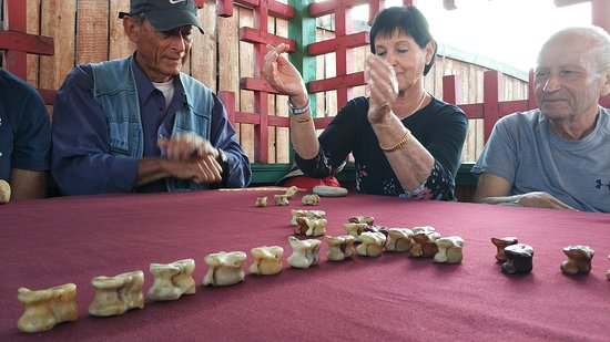 Buryats still play bone games for fun. So do we with our tourists!