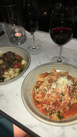 Balboa Italian Restaurant: Beef cheek gnocchi and Pappardelle al ragú
