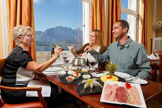 Hilterfingen, Swiss: Restaurant Fondue Chinoise