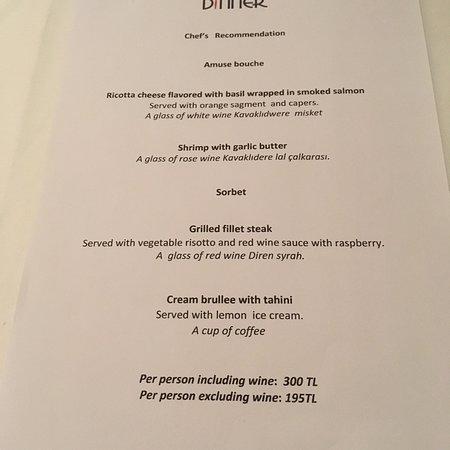 Dinner Restaurant Aufnahme