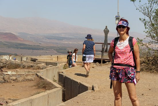 Mount Bental lookout, Golan Heights - border with Syria