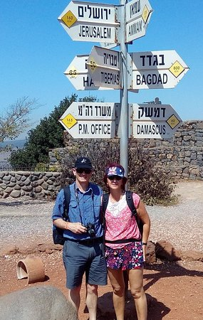 Signpost, Mt Bental, Golan Heights