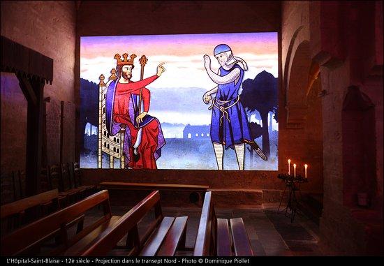 Hopital-Saint-Blaise, France: Nouveau spectacle son et lumière, à ne pas manquer: durée 20min plongé dans l'histoire de ce lieu unique!