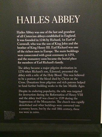 Hailes, UK: Signage