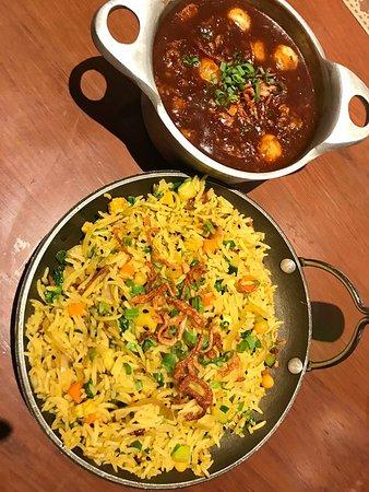 Tofu curry and rice
