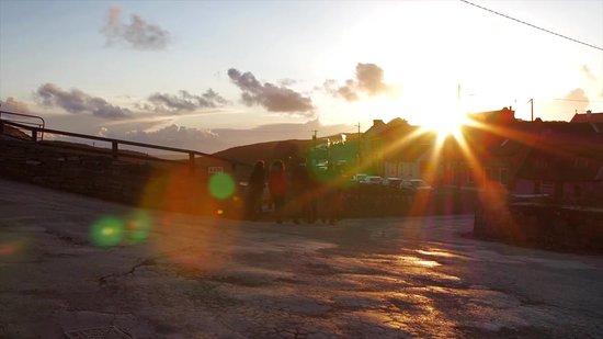 Sunset on Fisher Street in Doolin