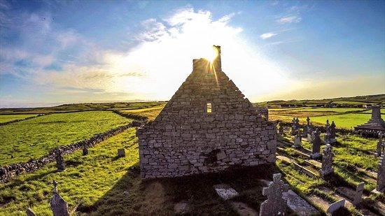 Sunset at Killilagh Church in Doolin