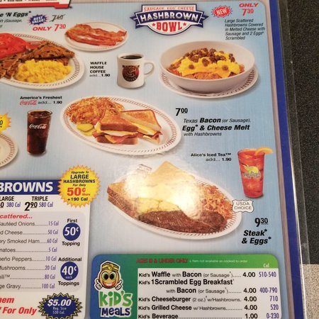 Waffle House North Charleston 2357 W Aviation Ave Menu Prices