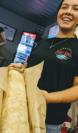The Double Wide Burrito! A 3lb monster burrito.