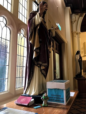 Saint Mary of the Angels: Even Buzz Lightyear goes to church!