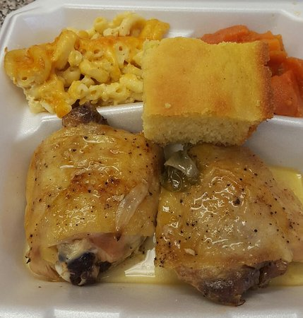 M&M Meals for the Soul: Baked Chicken dinner.